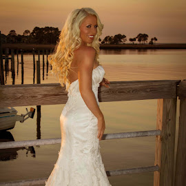 Destin Bride by Shelley Patterson - Wedding Bride ( water, fashion, sunset, wedding, bride )