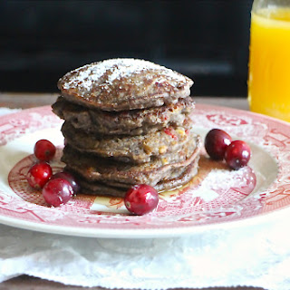Cranberry and Walnut Buckwheat Pancakes