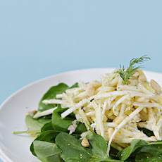 Celeriac and Apple Salad with Watercress and Meyer Lemon-Shallot Vinaigrette