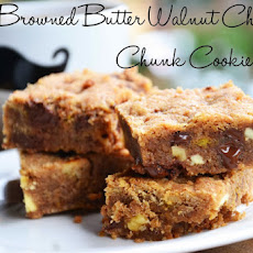 Browned Butter Walnut Chocolate Chunk Bars