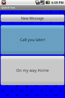 Screenshot of QuickText! SMS