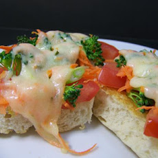 Open-Face Vegetable Sandwiches, Diabetic