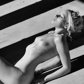 Taking in the Sun by Colin Dixon - Nudes & Boudoir Artistic Nude ( contrast, nude, art, beauty, shade, women, light, sun )