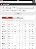 Screenshot of BTMS (출장관리시스템)