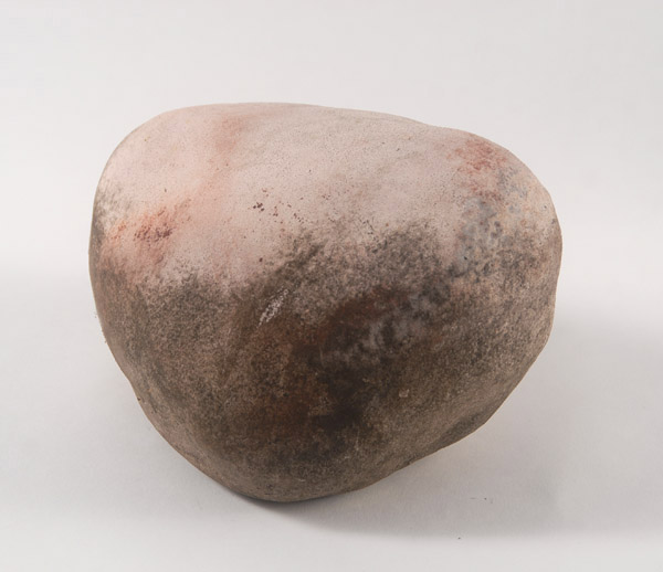 Large Rock <br> Stoneware, open pit fired <br> 5.5 x 8 x 8 in