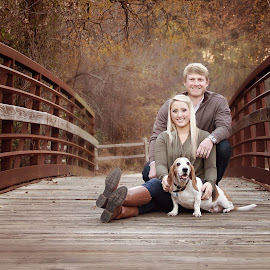 Fall session by Hope Johnson - People Couples ( pet, fall, bridge, dog, couples )