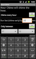 Screenshot of Hour Chime