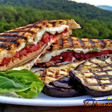 Meatless Monday ~ Grilled Mushroom Caprese Sandwiches On Sourdough