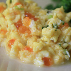 Scrambled Eggs with Salmon Roe