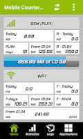 Screenshot of Mobile Counter - 3G, WiFi