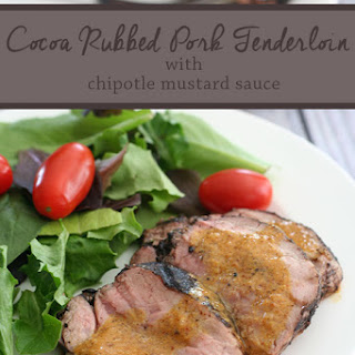 Cocoa-Rubbed Pork Tenderloin with Chipotle Mustard Sauce