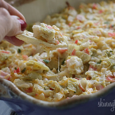 Hot and Cheesy Crab and Artichoke Dip