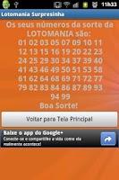 Screenshot of Surpresinha Lotomania