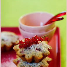 Lemongrass, Vanilla and Red Currant Cakes