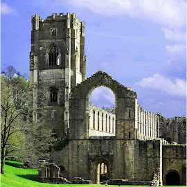 Fountains Abbey & Gardens by Simon O'Neill - Buildings & Architecture Decaying & Abandoned ( ruins, historical, old building, abandoned, abbey )