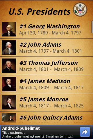 【免費教育App】US Presidents-APP點子