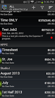 Screenshot of Expense Manager by BluJ IT