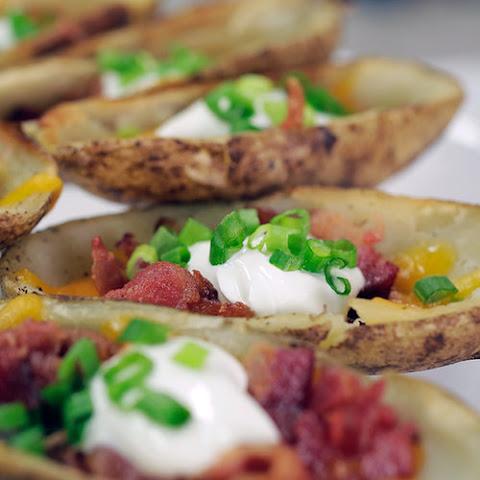 Nacho Loaded Potato Skins Recipe | Yummly