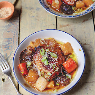 Dashi-Braised Chicken with Root Vegetables