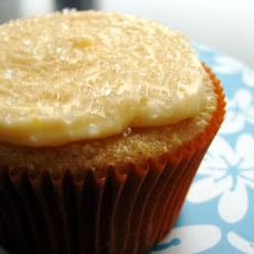 Almond Cupcakes with Orange Icing