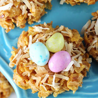 No Bake Coconut Caramel Nest Cookies