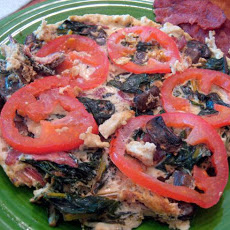 Swiss Chard and Tomato Frittata