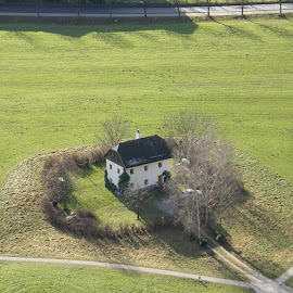 Crossroad house by Dajana Petković - Novices Only Landscapes ( salzburg, grass, crossroad, house )