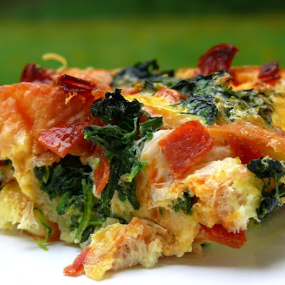 Cheesy Pepperoni Strata