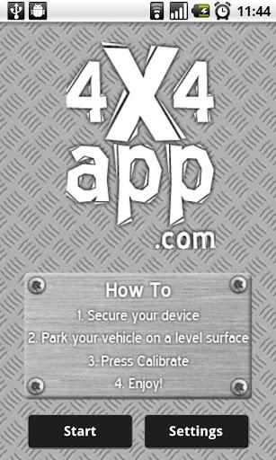 4x4 App - offroad inclinometer