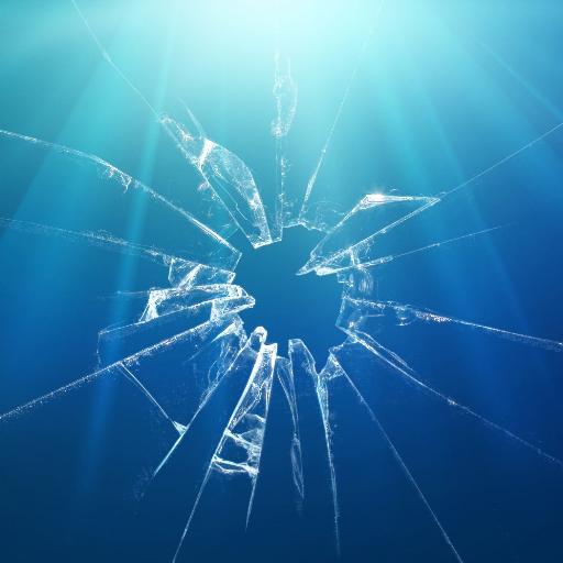Разбитое стекло в рисунке