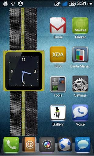 Yellow Nano Wrist Watch Clock