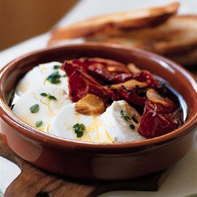 Marinated Goat Cheese with Oven-Roasted Tomatoes