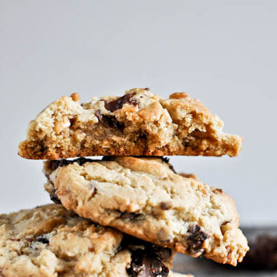 Chewy Peanut Butter Cookies with Chocolate Candied Bacon