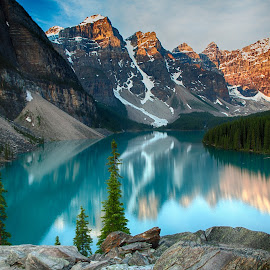 Lake Moraine by Jim Kuhn - Landscapes Waterscapes