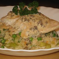Sea Perch on a Bed of Risotto With a Morel Sauce