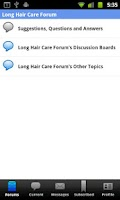 Screenshot of Long Hair Care Forum