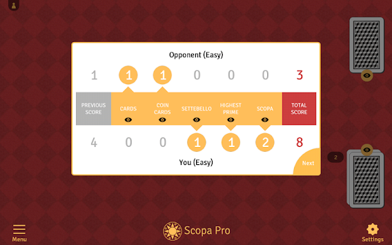 Scopa Pro APK screenshot thumbnail 9
