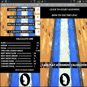 Lane Play Alignment Calculator