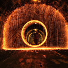 Steel Wool Tunnel by Chris Cherry - Abstract Light Painting