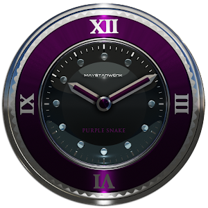 purple snake clock widget