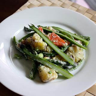 Potato and Asparagus Salad with Mustard Dressing