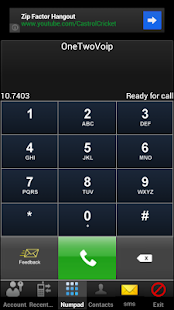 OneTwoVoip - screenshot
