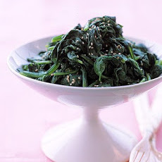 Sesame Steamed Spinach