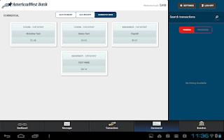 Screenshot of AmericanWest Mobile Banking