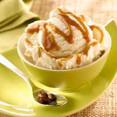 Mexican Coffee Caramel Sauce Over Ice Cream