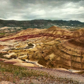 Painted Hills, OR by Andy Vic Lindblom - Instagram & Mobile Android ( clouds, oregon, desert, nature, landscape, painted hills )