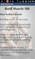 Screenshot of Build Muscle 100