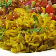 Carrot and Coriander Pilaf
