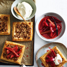 Almond Tarts With Rhubarb