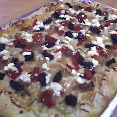 Mediterranean Goat Cheese Pizza
